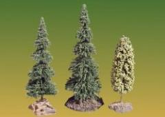 Trees - 2 Fir and 1 Deciduous with Bases