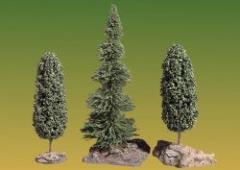 Trees - 1 Fir and 2 Deciduous with Bases