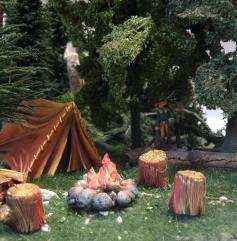 Tent w/Firepit