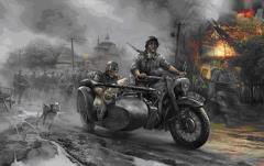 R12 Motorcycle w/Sidecar and Crew