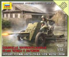 Soviet 45mm Anti-Tank Gun w/Crew