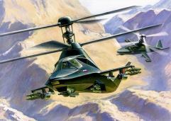 "Kamov KA-58 ""Black Ghost"" Stealth Helicopter"