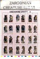 Zargonian Creature Set #6 - Amphibians & Reptiles (72)