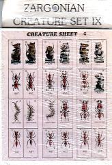 Zargonian Creature Set #9 - Ants, Centipedes & Rats (72)