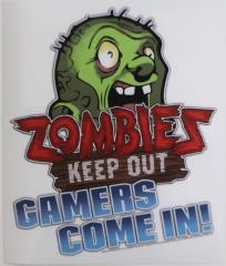 Zombies Keep Out Window Cling