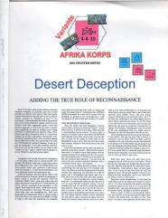 Afrika Korps - Desert Deception