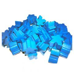 16mm Blue Wooden Meeples