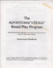 Series #1 - Adventurer's Guild Retail Play Program, Instruction Book