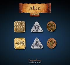 Alien Coin Set