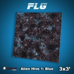 3' x 3' - Alien Hive, Blue