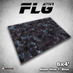 6' x 4' - Alien Hive, Blue