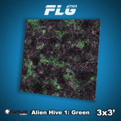 3' x 3' - Alien Hive, Green