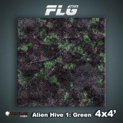 4' x 4' - Alien Hive, Green