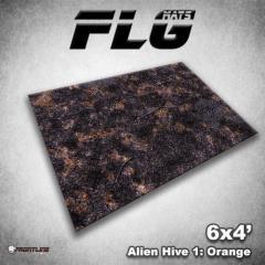6' x 4' - Alien Hive, Orange