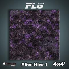 4' x 4' - Alien Hive, Purple