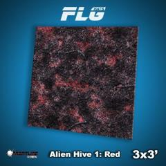 3' x 3' - Alien Hive, Red