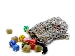 Aluminum Chainmail Dice Bag - Large
