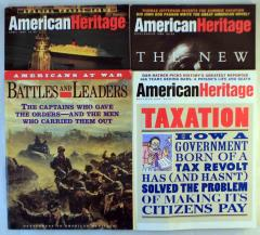 American Heritage Magazine Collection - 3 Issues + Bonus Supplement!