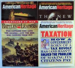 American Heritage Magazine Collection - 3 Issues + Bonus Supplement!