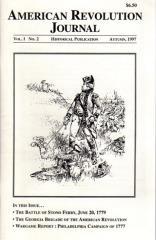 "Vol. 1, #2 ""Georgia Brigade of the American Revolution, Wargaming the Philadelphia Campaign of 1777"""