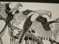"#5 - Archeoteryx - 11"" x 7"" Original Ink"