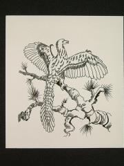 "A6 - Archeoteryx - 4"" x 4"" Original Ink"