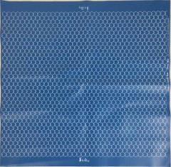 "27"" X 27"" Blue Vinyl Game Mat - 19mm Hexes"