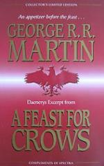 Daenery's Excerpt from 'A Feast for Crows' - Autographed by George R.R. Martin