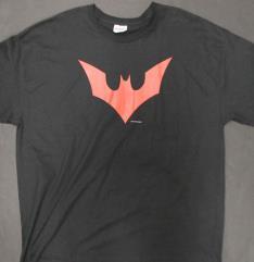 Bat Symbol T-Shirt - Black & Red (XXL)