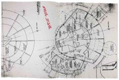 Star Trek the Next Generation Construction Blueprints - Battle Bridge - Official Photocopies