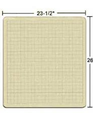 "BattleMat - 23 1/2 X 26"" Vinyl Game Mat - 1"" Squares"