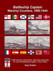 Battleship Captain Warship Counters, 1890-1945