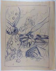 Battletech Tank Battle Concept Sketch