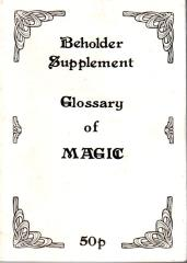 Beholder Supplement - Glossary of Magic