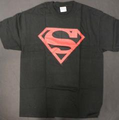 Superman Symbol T-Shirt - Black & Red (L)