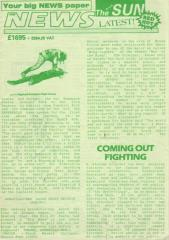 "The News/Black Sun - Green Print ""Brash Brazen & Brutal"""