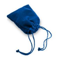 Blue Velour Dice Bag (Large)