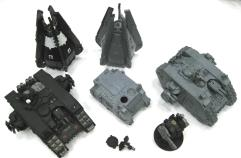 Black Templars Land Raider, Rhino, Drop Pod, and Dreadnought Collection - 6 Figures!