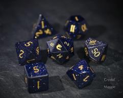 Blue Sandstone - Dragon w/Gold (7)