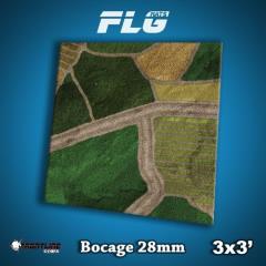 3' x 3' - Bocage 28mm