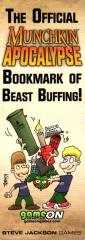 Official Munchkin Apocalypse Bookmark of Beast Buffing