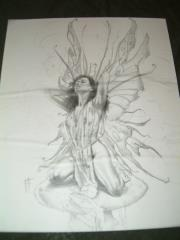 "TSR Butterfly Chick - 8"" x 10"" Original Pencil"