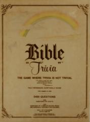 Bible Trivia - The Game Where Trivia is not Trivial