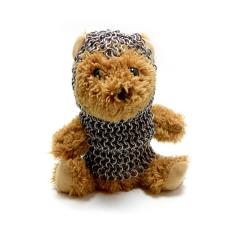 Teddy Bear in Chainmail Battle Armor - Tan