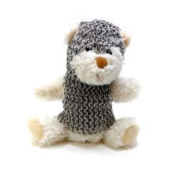 Teddy Bear in Chainmail Battle Armor - White
