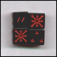 Arrows of Chaos D6 Black w/Red (2)