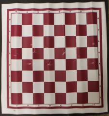 Chess Board Mat - Red