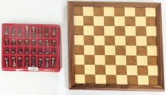 Chess - Wood Board w/Classic Style Metal Pieces #2