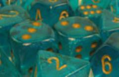 Poly Set Teal w/Gold (7) (2nd Edition)