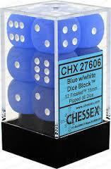 d6 16mm Blue w/White (12)